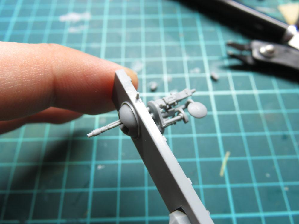 4号戦車 J型(中期型) 車載機銃の取り付け
