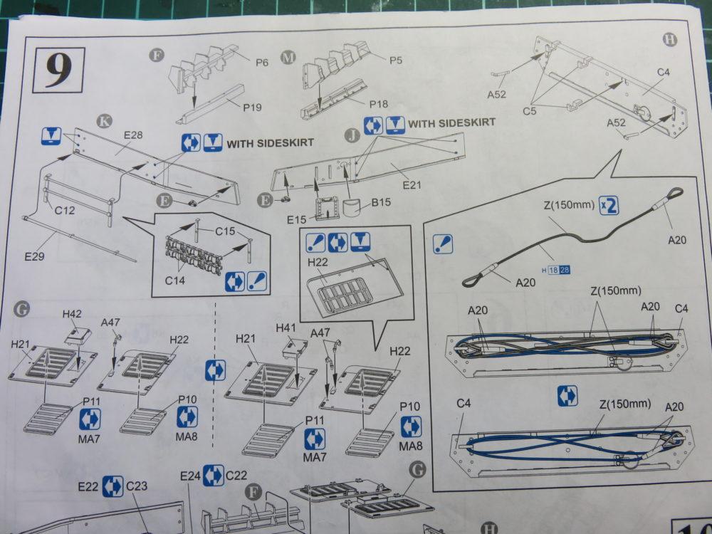 4号戦車 J型(中期型) 車体上部の各種装甲板の組み立て