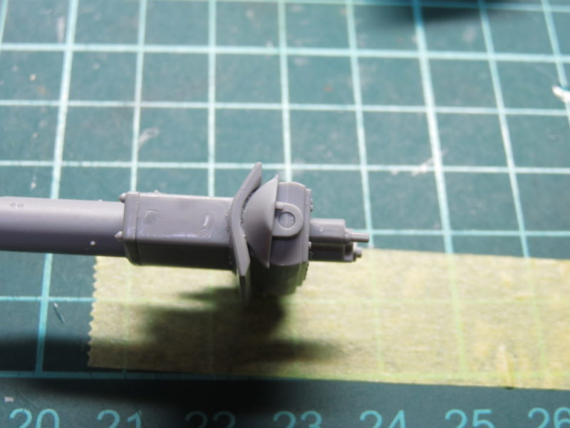 4号戦車 J型 主砲の組み立て 砲耳 可動する部分