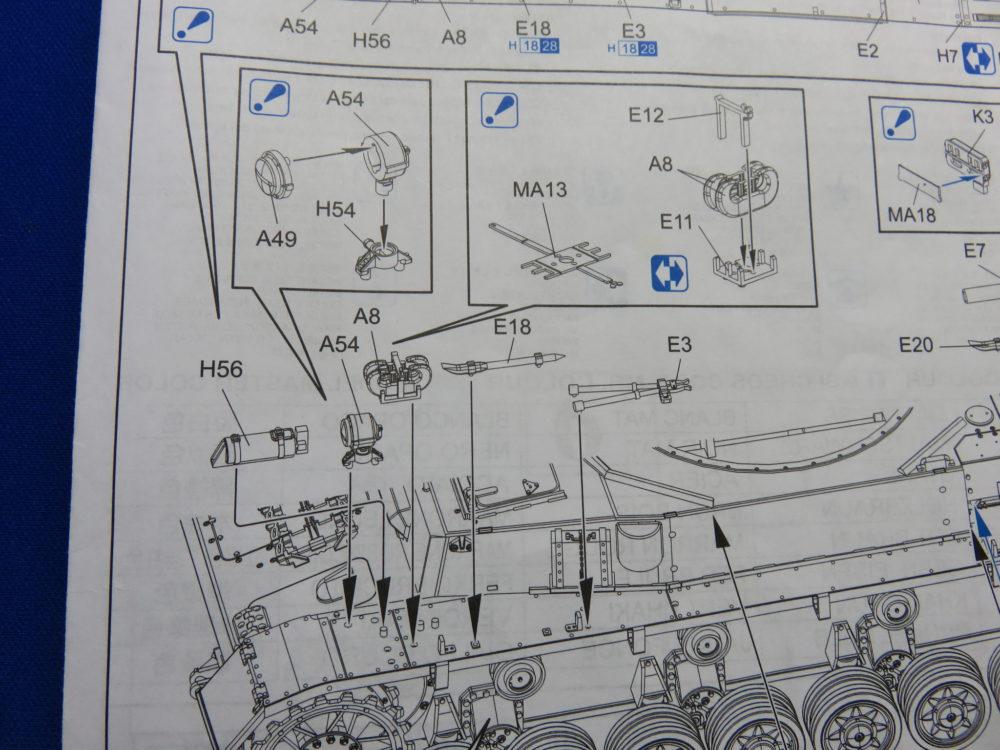 4号戦車 J型(中期型) フェンダー左側にもOVMを取り付ける2