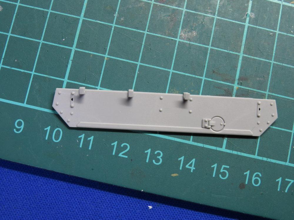 4号戦車 J型(中期型) 車体上部、後面装甲板のパーツ