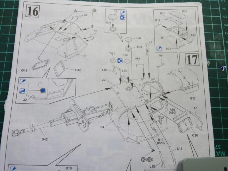 4号戦車J型 砲塔の組み立て