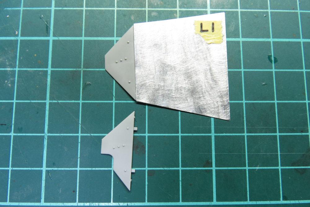 4号戦車 J型 シュルツェン板の組み立て・取り付け 6枚目のシュルツェン板の形状の違い