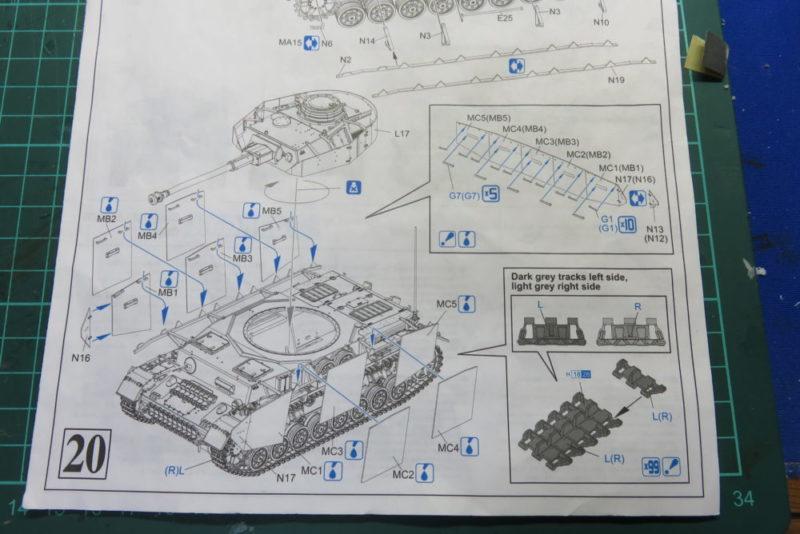 4号戦車 J型 シュルツェン板の組み立て・取り付け