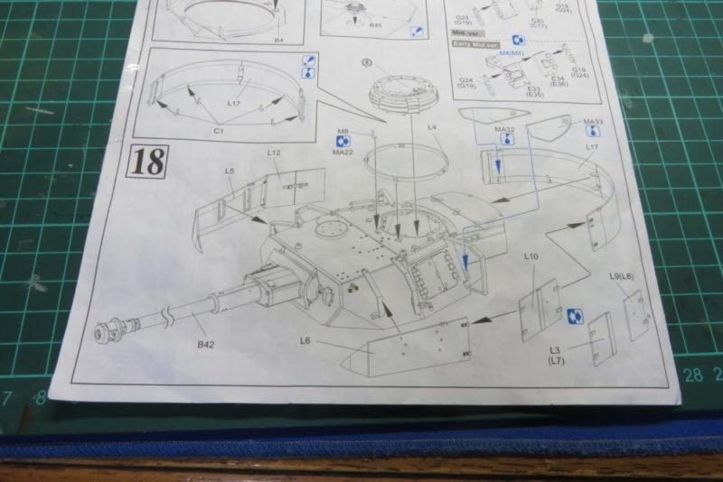 4号戦車 J型 砲塔シュルツェンの組み立て