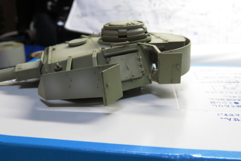 4号戦車 J型 砲塔のハッチを可動式にする5