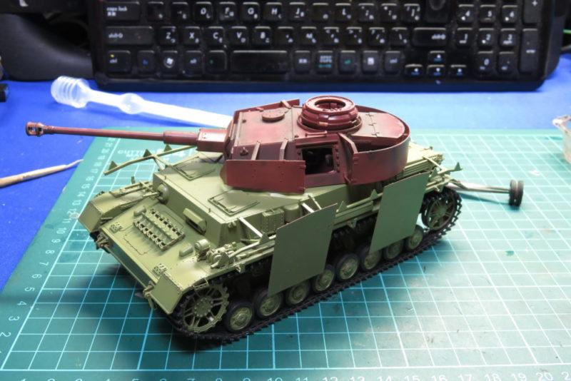 4号戦車 J型 基本塗装した車体と未塗装の砲塔の組み合わせ
