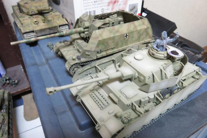 4号戦車 J型 車体基本色のハイライト塗装3