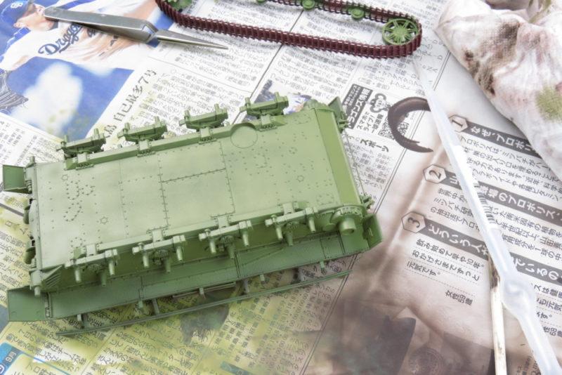 4号戦車 J型 ドゥンケルゲルプで車体基本塗装2