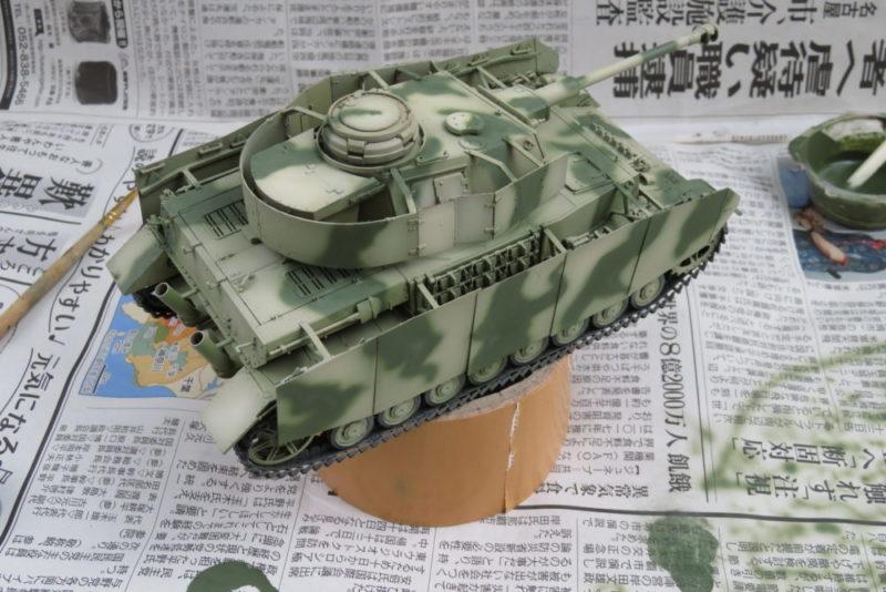 4号戦車 J型 迷彩塗装 オリーブグリーン2