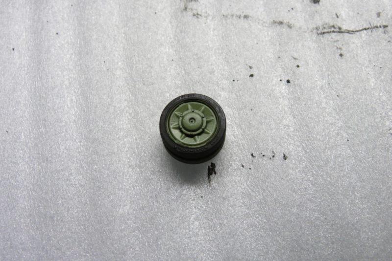 4号戦車 J型 転輪のゴムの塗装