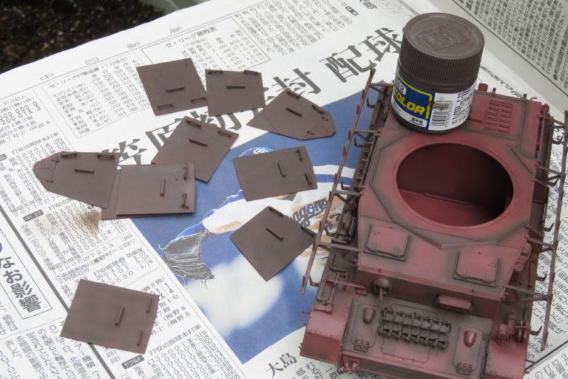 4号戦車 J型 影になる部分にマホガニーを吹き付ける