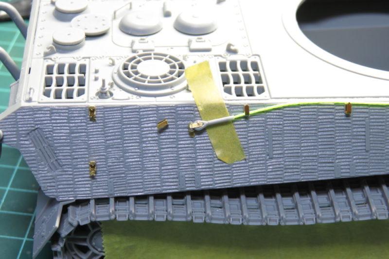 キングタイガー 履帯交換用ロープの組み立て・取り付け5