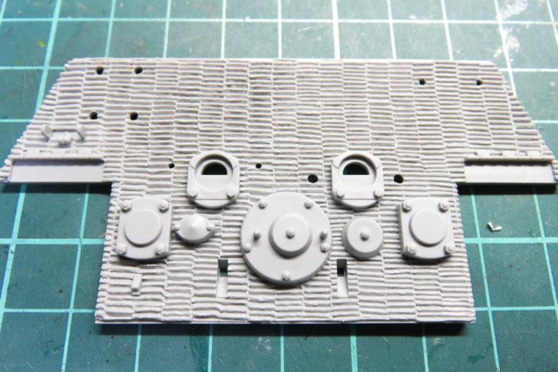 キングタイガー リアパネルの組み立て リアパネルのパーツ