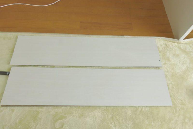 山善 オープンラック(CPB-1845J) 組み立て 上段の側板