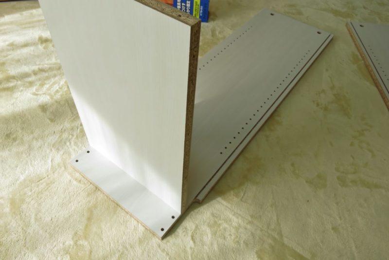山善 オープンラック(CPB-1845J) 組み立て 下段の底板
