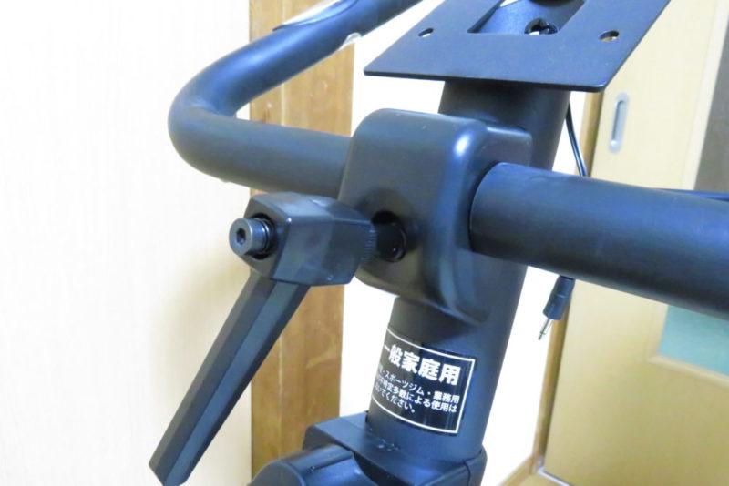 ALINCO AFB5013の組み立て ハンドル取り付け ハンドルノブを外す