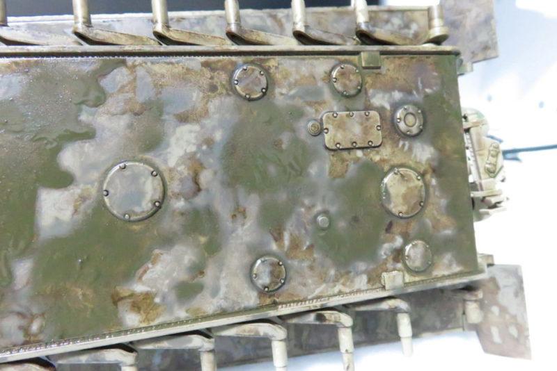 キングタイガー 車体下部の泥汚し2