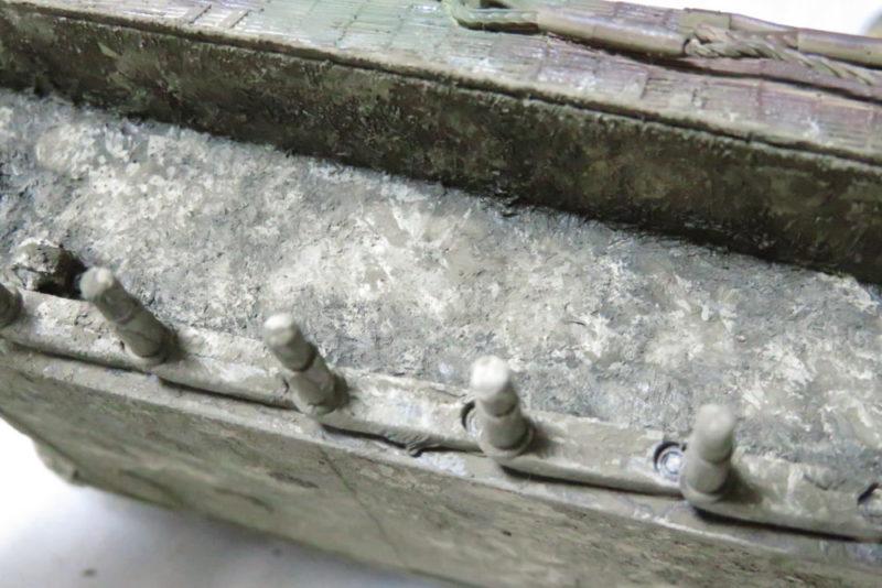 キングタイガー 車体下部の泥汚し5