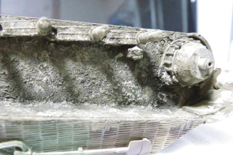 キングタイガー 車体下部の泥汚し6