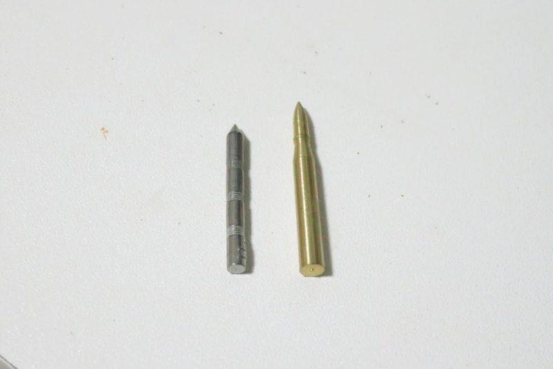 8.8cm砲弾とタングステンネイルシンカー