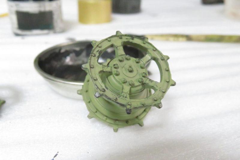 キングタイガー 転輪の摩耗表現3