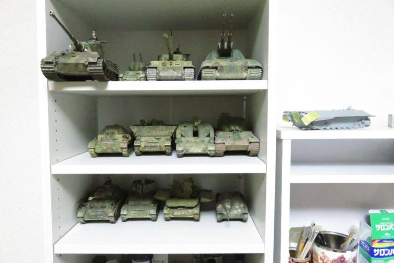 キングタイガーと今まで作った戦車模型たち3