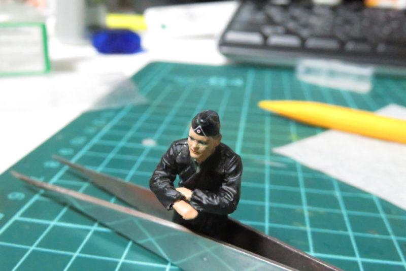 タミヤ ドイツ国防軍 戦車兵セット デカール貼り3