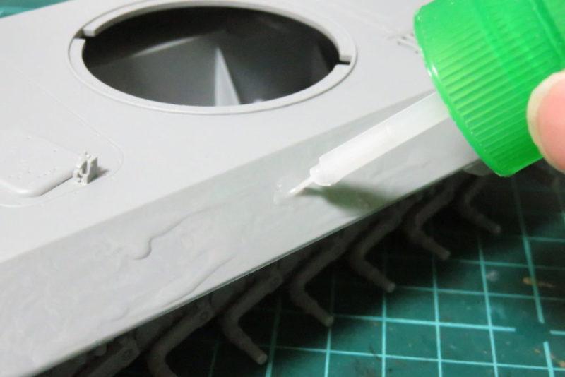 パンターD型 V2 装甲板の荒れを再現2