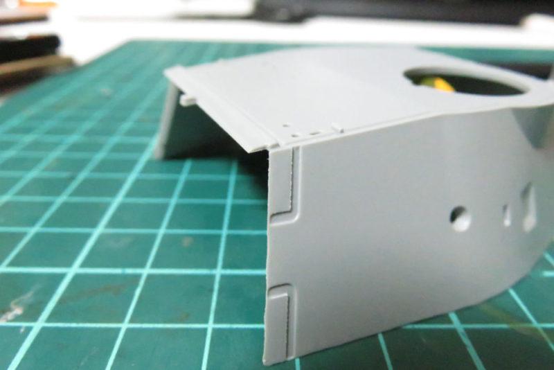 パンターD型 V2 装甲板の断面を再現