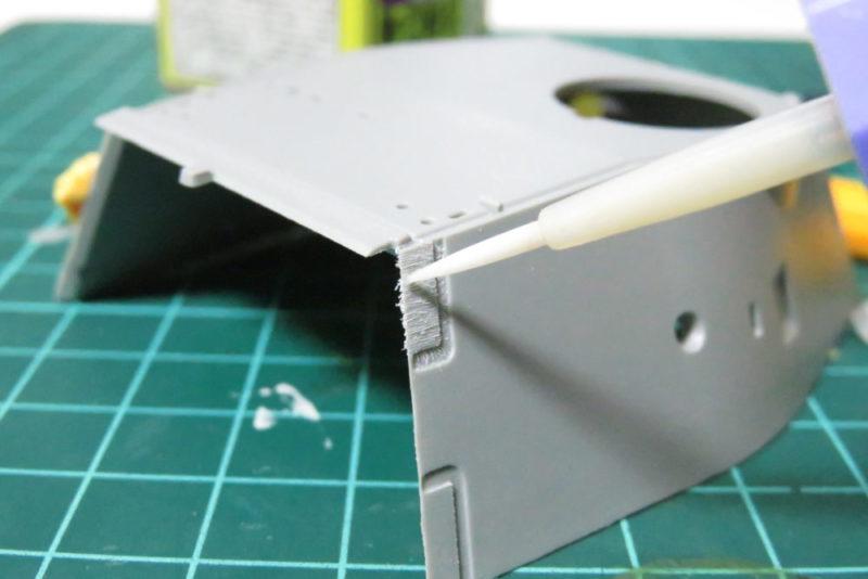 パンターD型 V2 装甲板の断面を再現2