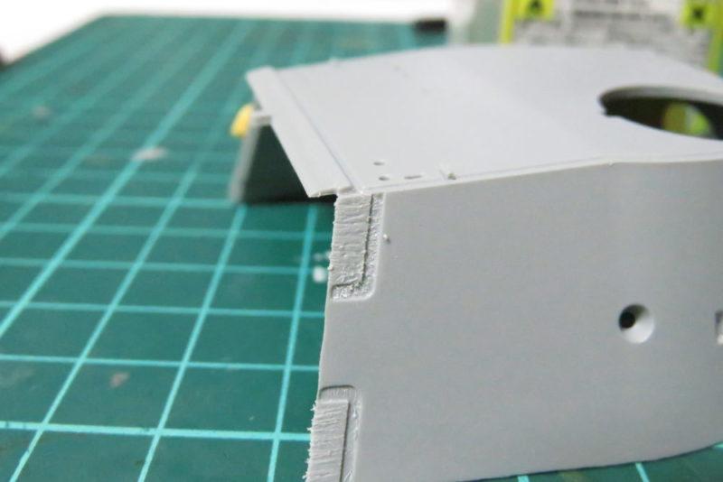 パンターD型 V2 装甲板の断面を再現3