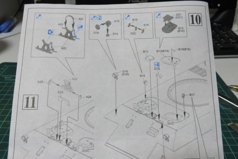 パンターD型 V2 車体上部に細かいパーツを取り付ける