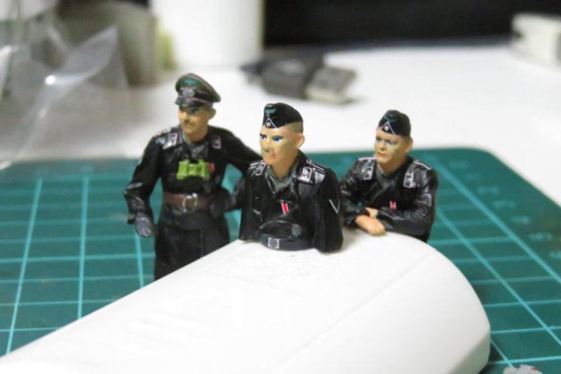 タミヤ ドイツ国防軍 戦車兵セット 完成!