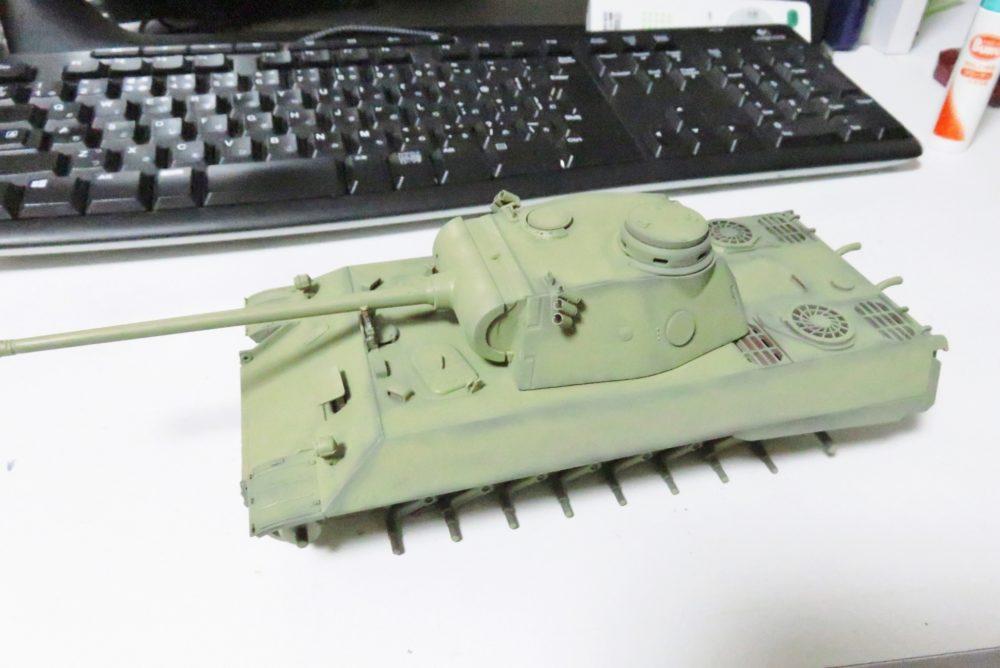 パンターD型 V2 車体・砲塔の塗装