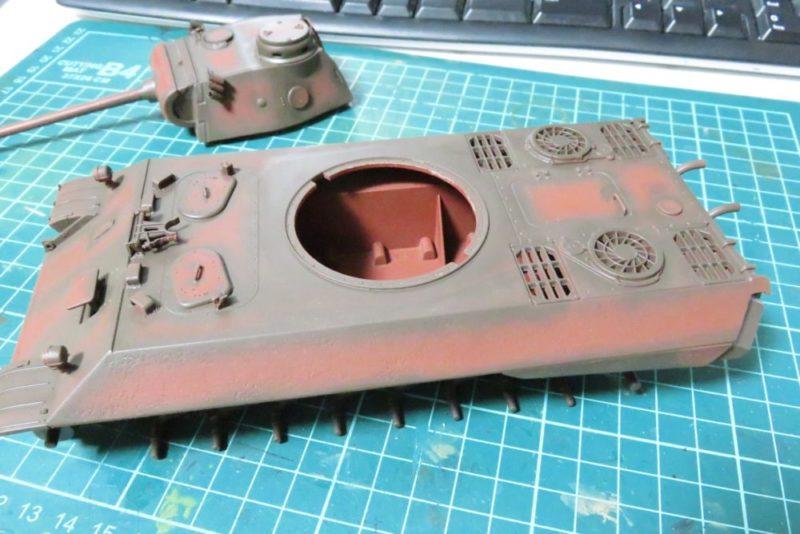パンターD型 V2 車体シャドー吹き