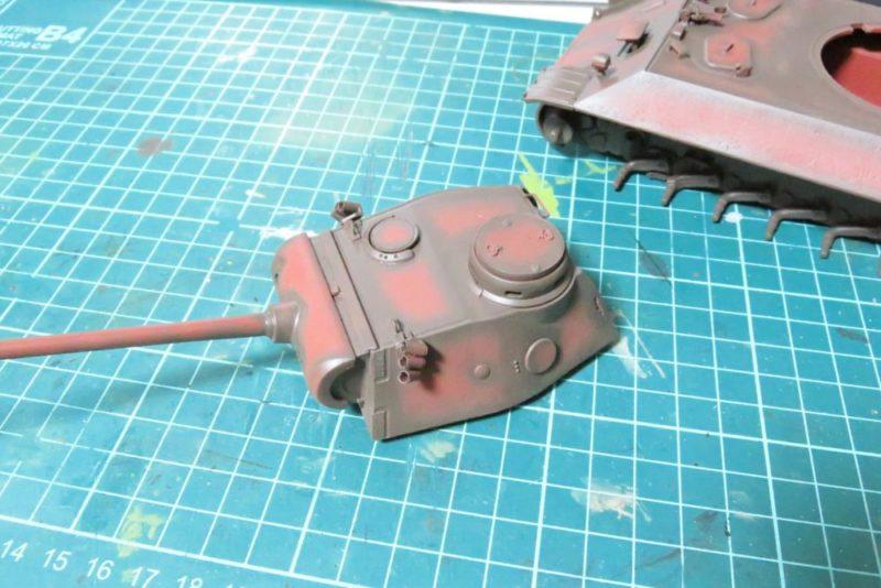 パンターD型 V2 砲塔シャドー吹き