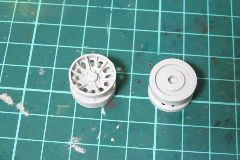 グリレ17 転輪の組み立て 遊動輪