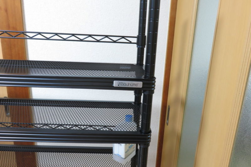 バウヒュッテ スクリーンラック BHS-1025SR ロゴプレートつきのメッシュ棚板