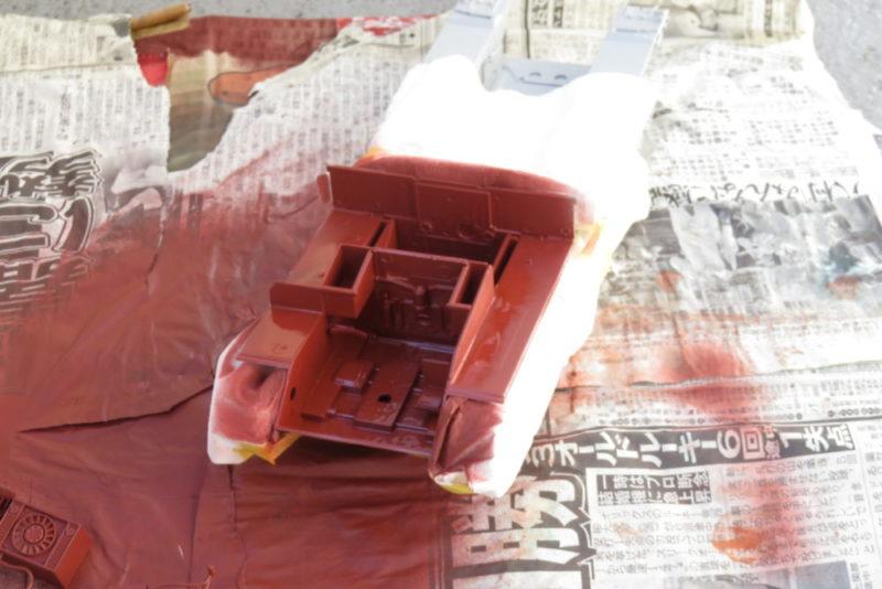 グリレ17 車内の塗装 サフ吹き2