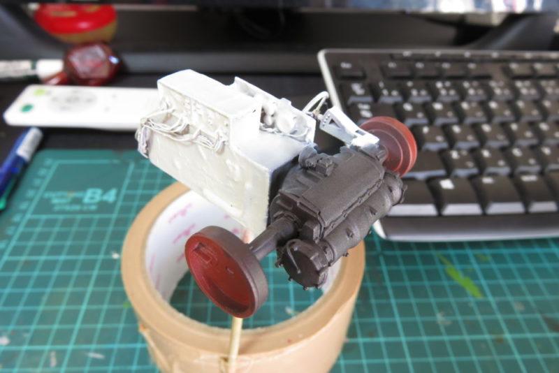 グリレ17 車内の塗装 トランスミッションの塗り分け