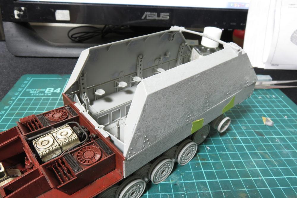 グリレ17 側面装甲板 仮組み