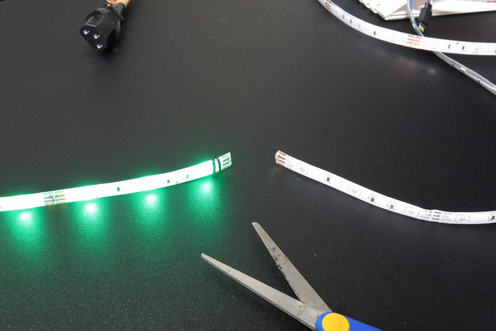 LEDテープライト 余った部分をカットする2