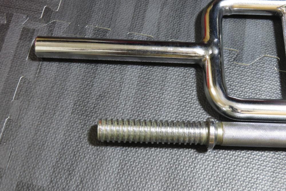 ダンベル・トライセプスバーのプレート装着部