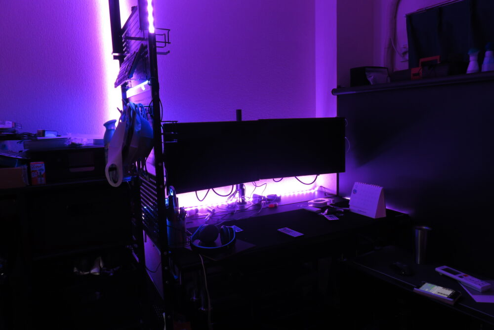 Lepro LEDテープライトを貼り付ける前2