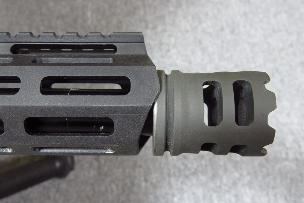 M4軽機関銃にICSのCrownハイダーを取り付ける2